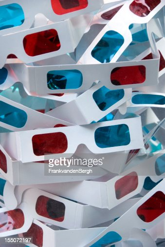 Paper 3D movie glasses