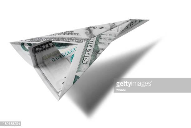 Avion de papier Dollar américain