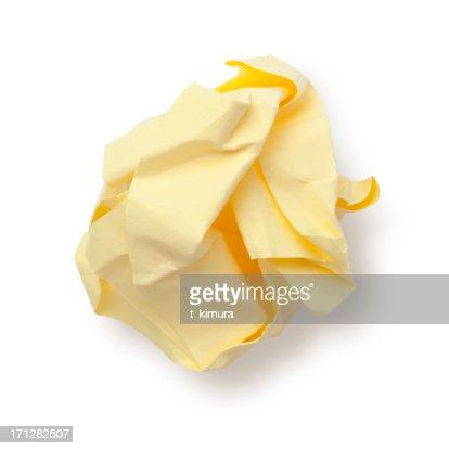 Paper Ball Sticky Note.