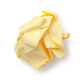 Paper Ball on white. Sticky Note