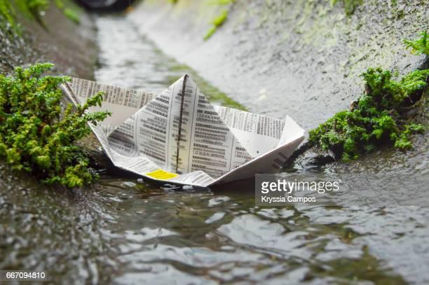 Paper Boat Floating