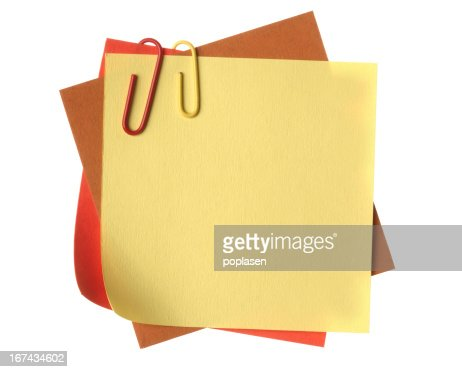 Paper clip and note business office : Stock Photo