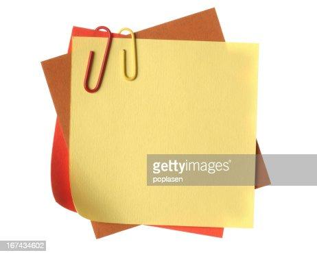 Sujetapapeles y nota de oficina de negocios : Foto de stock