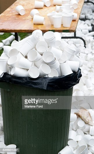 Paper coffee cups : Stock Photo