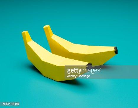 Paper Craft Bananas on Blue