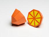 Paper Craft Orange on White