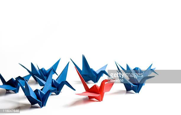 Paper Cranes photograph with stand out in crowd concept