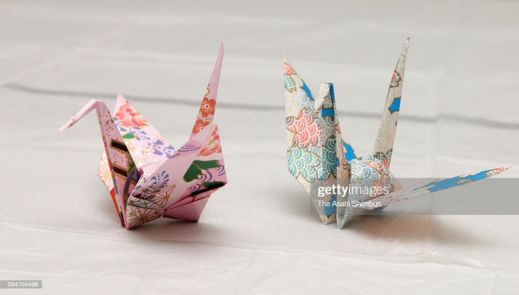 paper cranes which are made by U.S. President Barack Obama and presented to students of Hiroshima at the Hiroshima Peace Museum are seen on May 27, 2016 in Hiroshima, Japan. Obama becomes the first sitting U.S. president to visit Hiroshima, where the first atomic bomb was dropped in 1945 at the end of World War II.