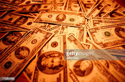 US paper currency, full frame : Stock Photo