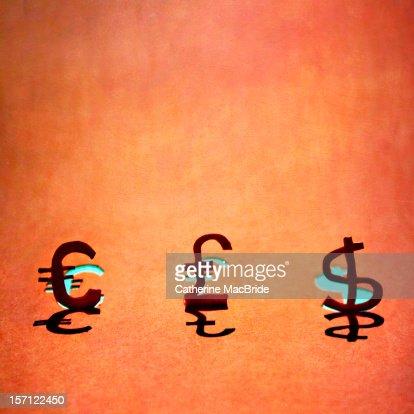 Paper Currency Symbols : Foto de stock