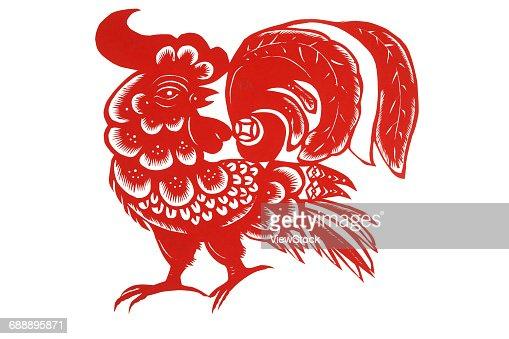 Paper cutting chicken