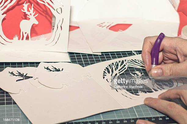 Paper Cutting Christmas Cards
