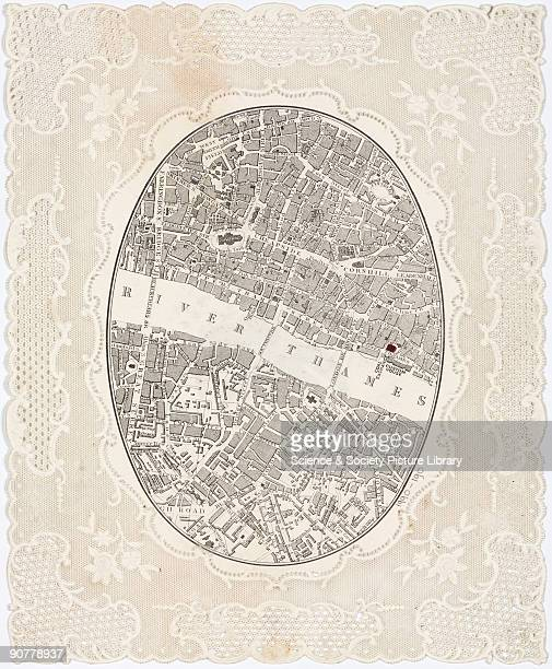 Paper doiley or tray cover printed on two sides to form a ticket for the ceremony that marked the opening of the new Coal Exchange in London The...