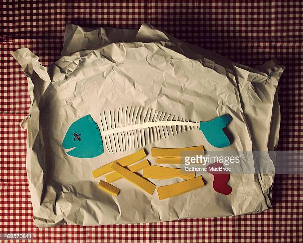 Paper fish and chips