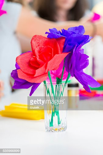 Paper flowers : Stock Photo