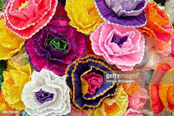 Paper flowers used for carnaval