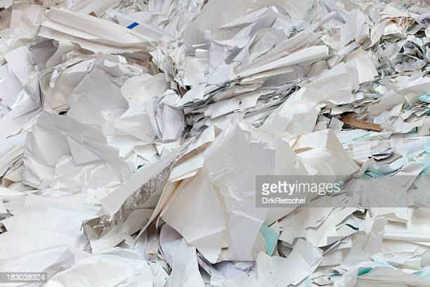 Paper for recycling.