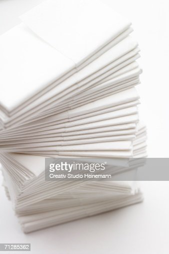 Stack of tissues, close-up