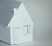 paper house paper background.the concept of a mortgage.photo with copy space