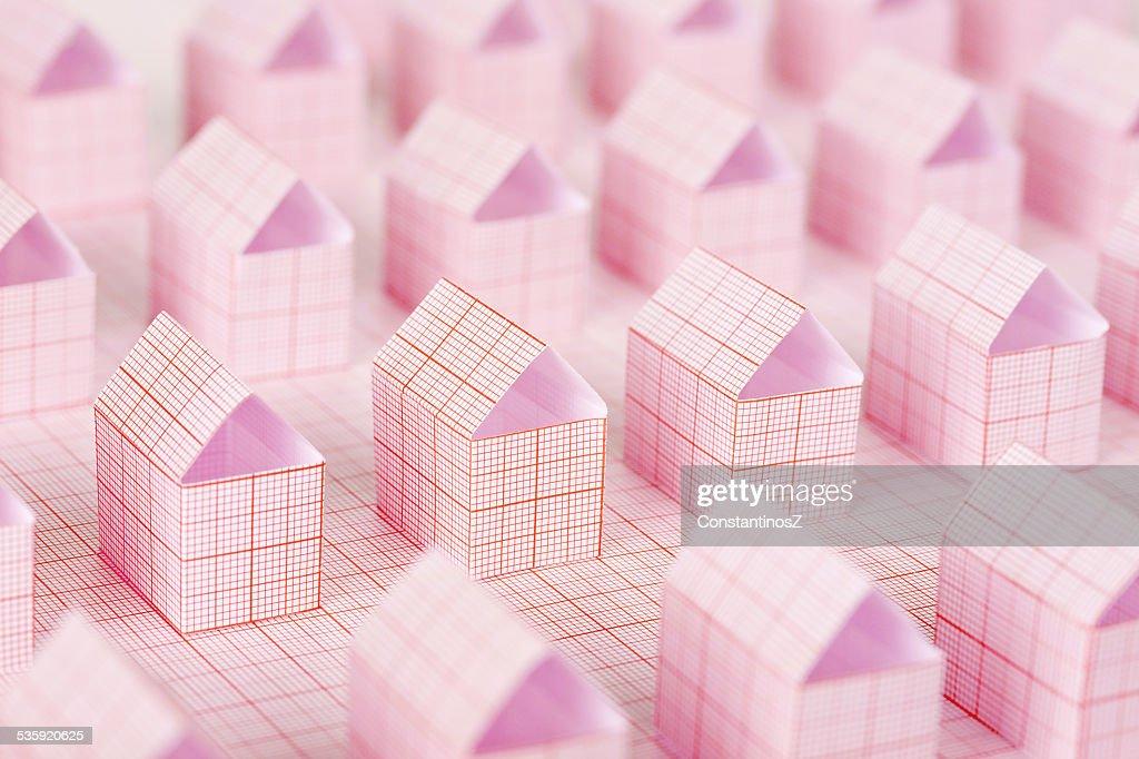 paper houses : Stock Photo