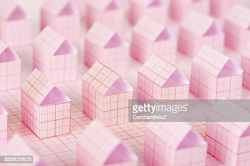 paper houses : Stock Photo