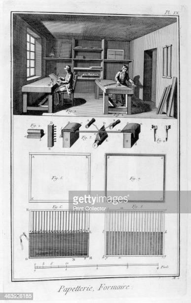 Paper making 17511777 A print from the Encyclopédie ou Dictionnaire Raisonné des Sciences des Arts et des Métiers by Diderot d'Alembert 17511777...