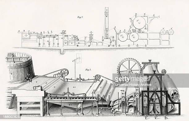 Paper Making Machine 19Th Century From Cyclopaedia Of Useful Arts And Manufactures By Charles Tomlinson