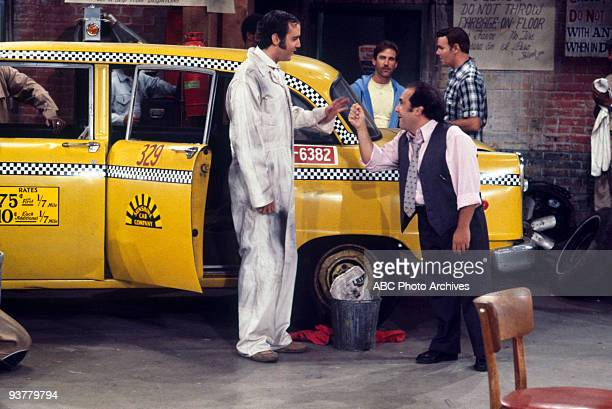 TAXI 'Paper Marriage' Season One 10/31/78 Andy Kaufman and Danny DeVito on the ABC Television Network comedy 'Taxi' The staff of a New York City...