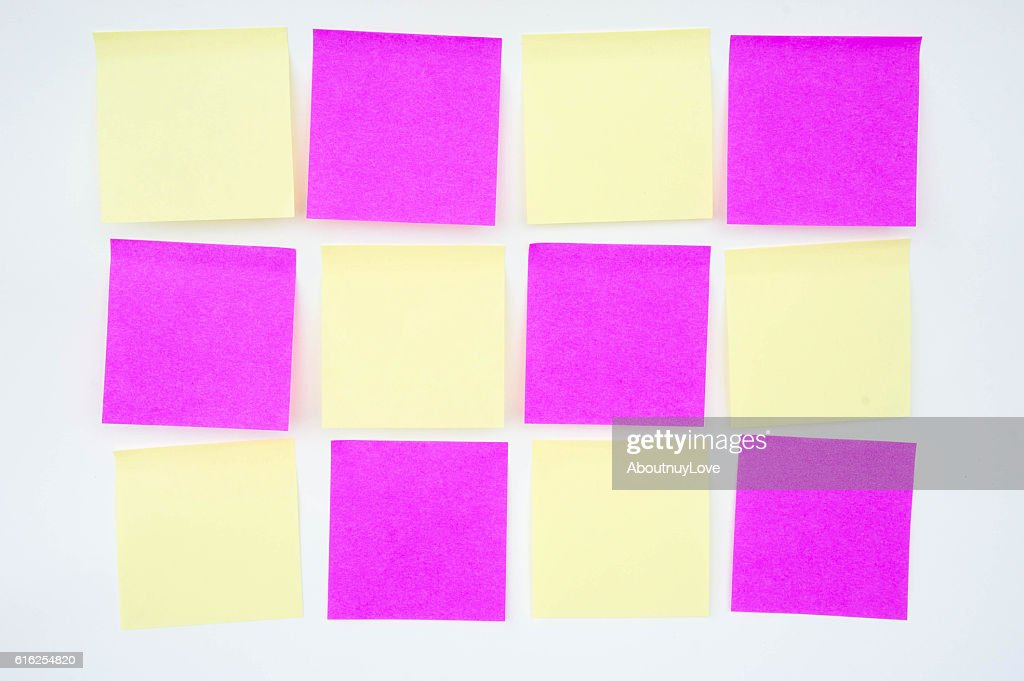 Paper Note on white background : Foto de stock