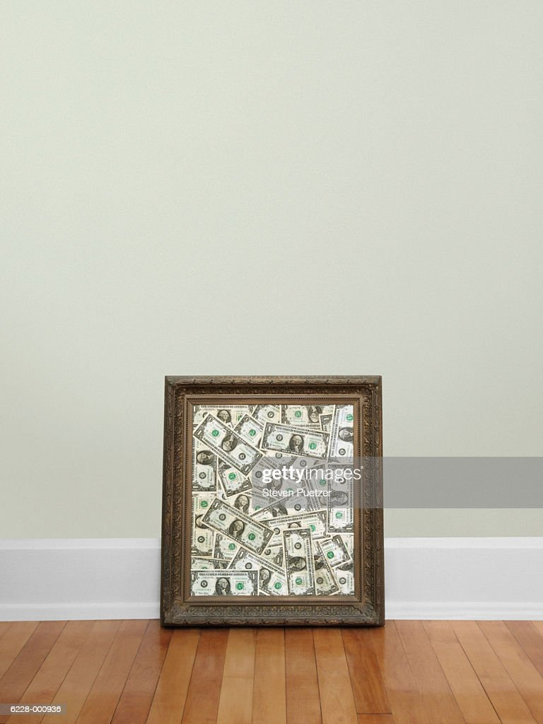 Paper Notes in Picture Frame : Stock Photo