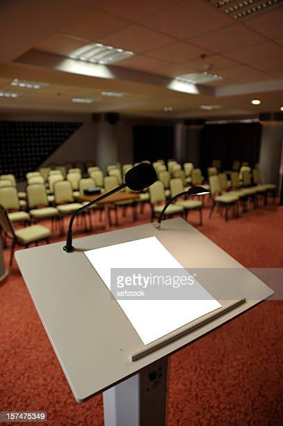 paper on lectern