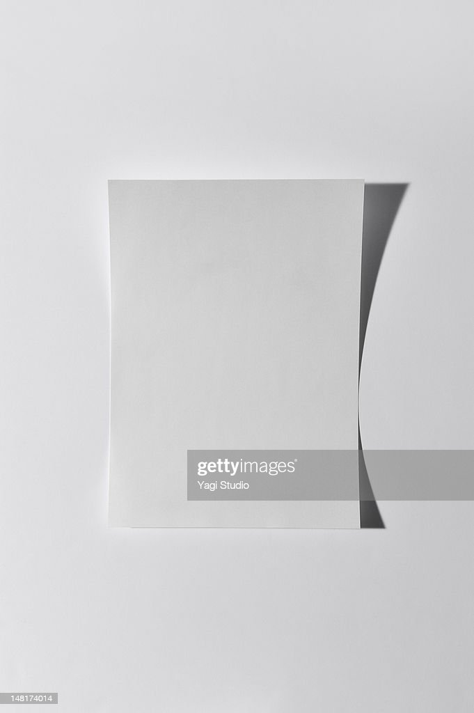Paper on white background : Stock Photo