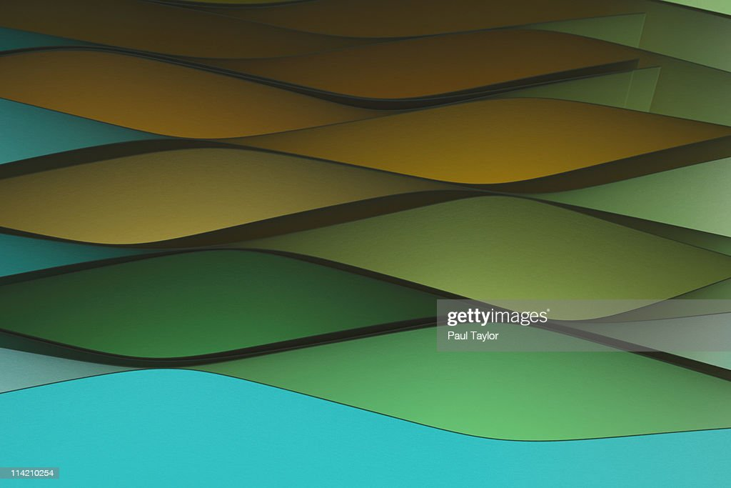 Paper Pattern With Colored Light : Stock Photo