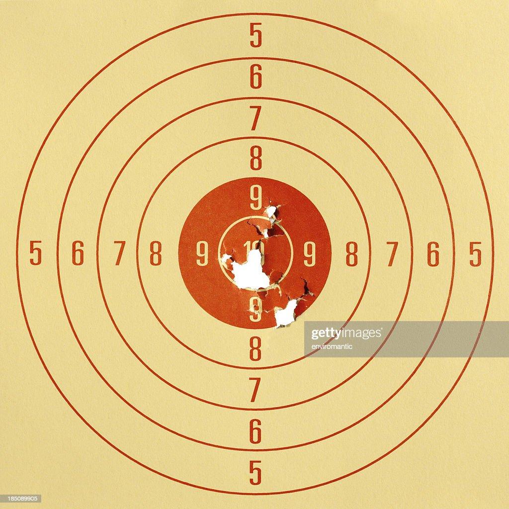 Paper pistol target. : Stock Photo