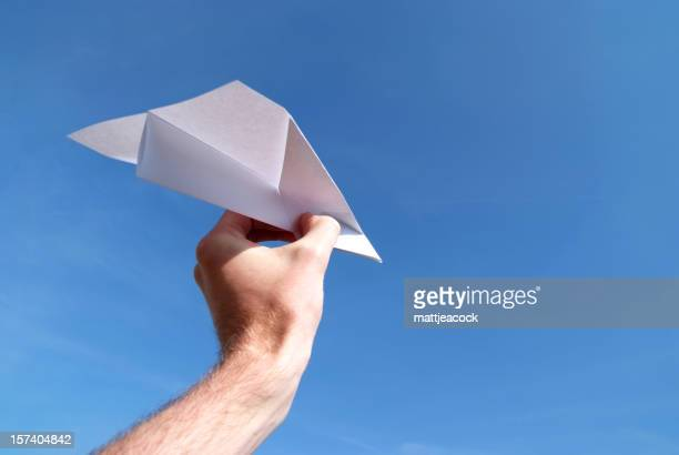 Papier Flugzeug