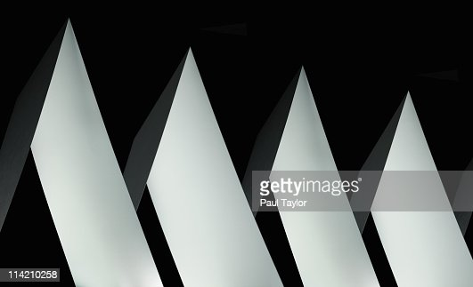 Paper Shapes in Row