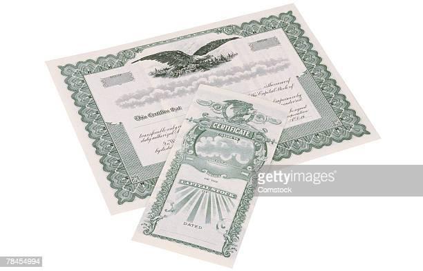 Paper stock certificate
