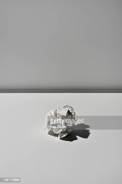 Paper trash on white background