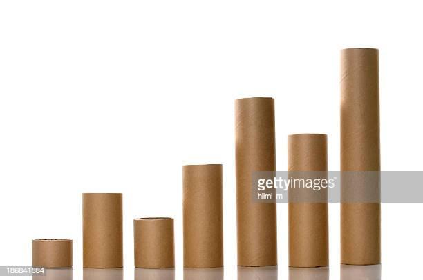 Papier Tubes comme un graphique