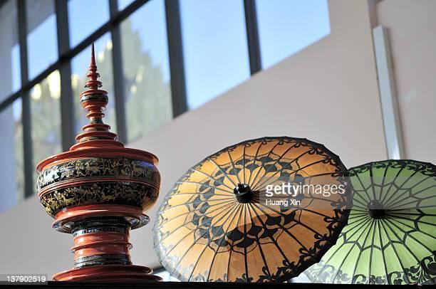 Paper umbrellas and lacquerware