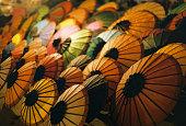 Paper umbrellas, Luang Prabang