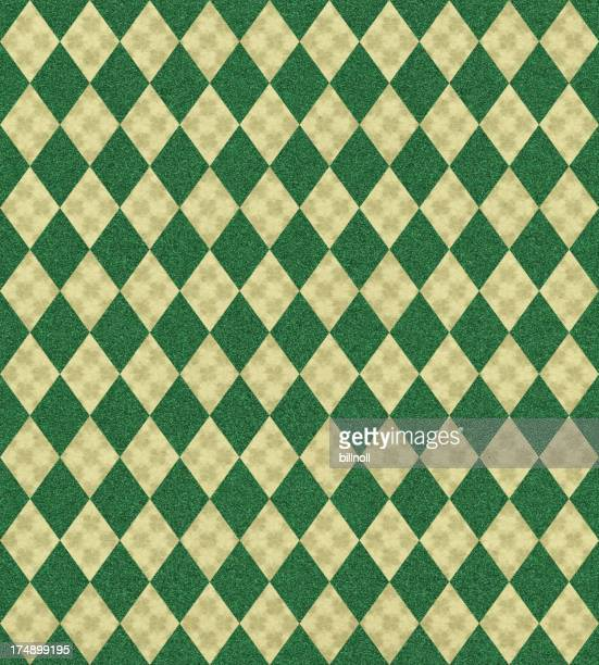 paper with clover and diamond patterns