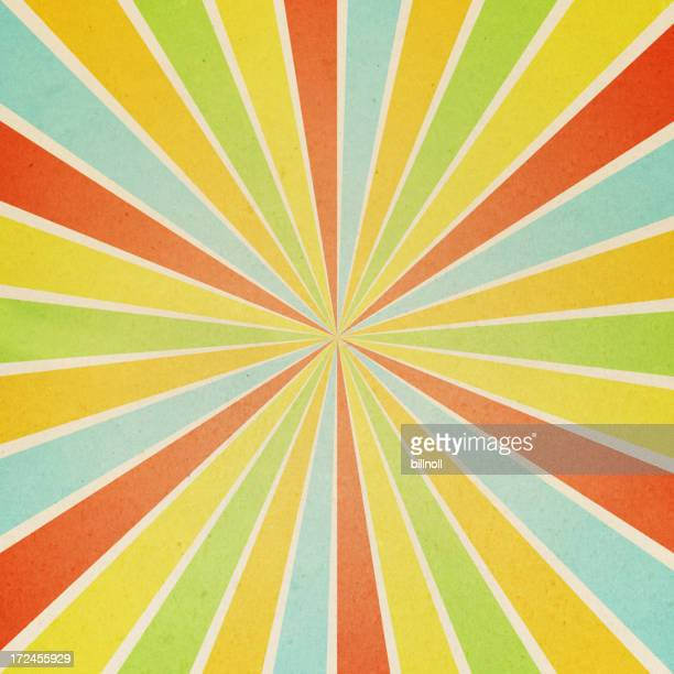 paper with colorful sunburst pattern