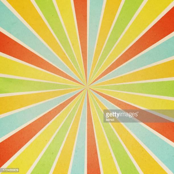 Papier mit farbenfrohen sunburst-Muster