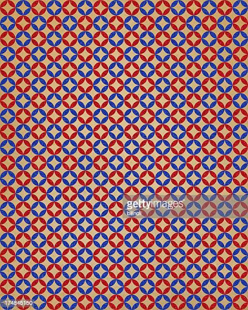 Papier avec motif géométrique éclatant