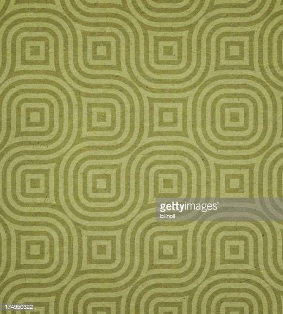 paper with green modern circle pattern