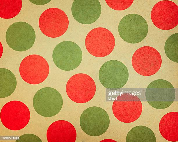 paper with large red and green dots