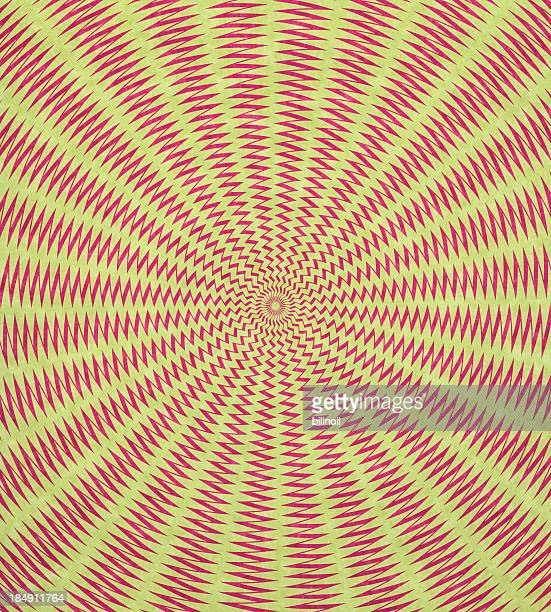 Papier avec un design psychédélique optique
