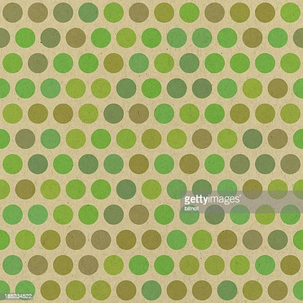Carta verde con motivo a pois senza