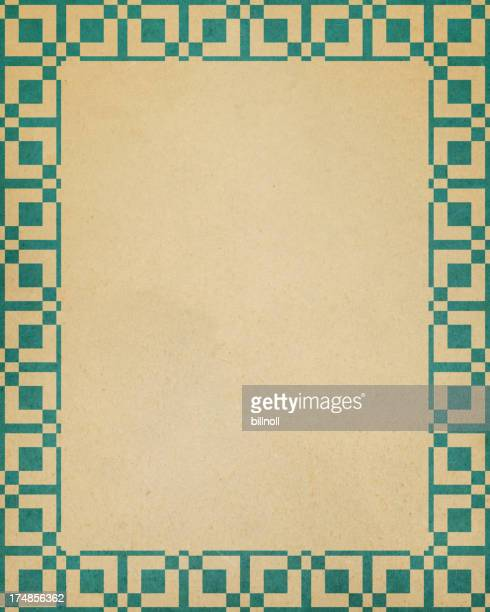 paper with square border pattern